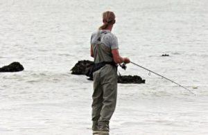 釣り人らしい服装