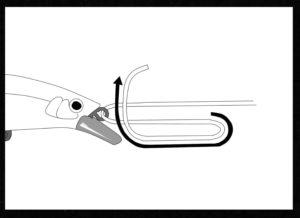 ユニノットの結び方の手順1