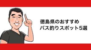 h2見出し1「徳島県のおすすめバス釣りスポット5選」の装飾画像