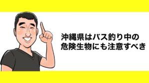 h2見出し3「沖縄県はバス釣り中の危険生物にも注意すべき」の装飾画像