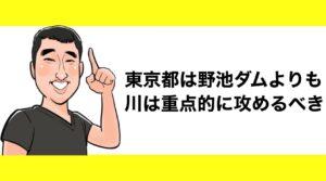h2見出し3「東京都は野池やダムよりも川を重点的に攻めるべき」の装飾画像