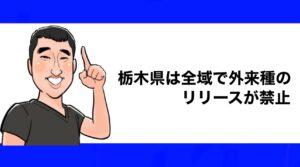h2見出し2「栃木県は全域で外来種のリリースが禁止」の装飾画像