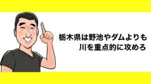 h2見出し3「栃木県は野池やダムよりも川を重点的に攻めろ」の装飾画像