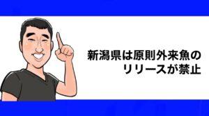 h2見出し2「新潟県は原則外来魚リリースが禁止」の装飾画像